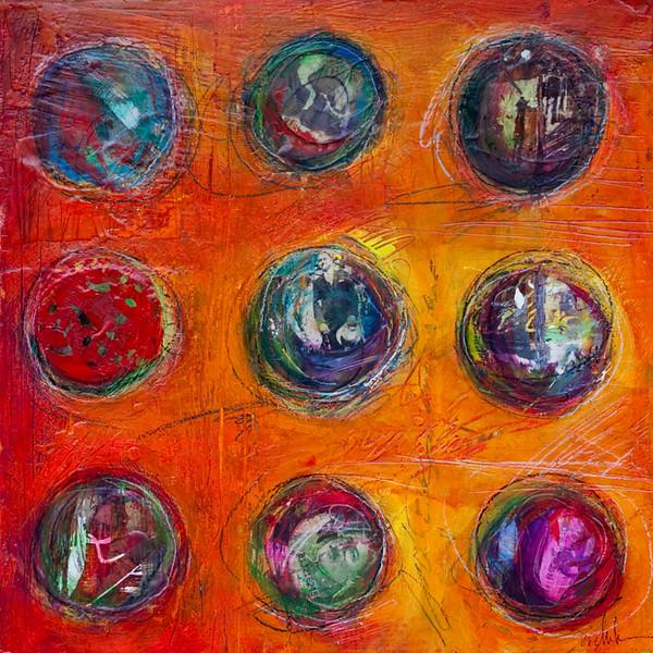 Pagliaccio Mio, 12 x 12 inches, sold