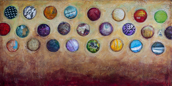 4 oz Yeast, 24 x 48 inches. sold