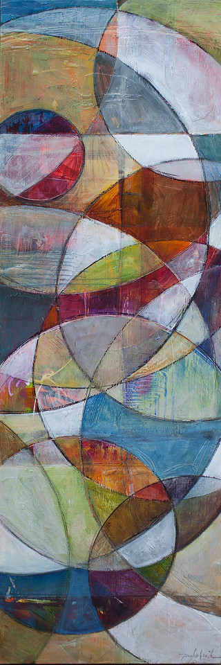 Tondo, 12 x 36 inches, sold