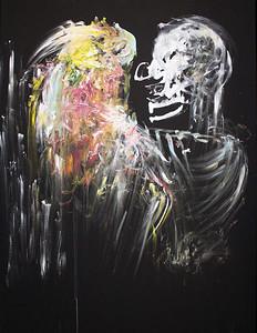 153 - The pale Clown - 100x70cm