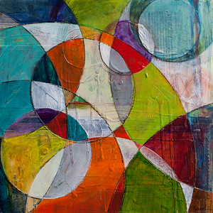 Circling, 24 x 24 inches