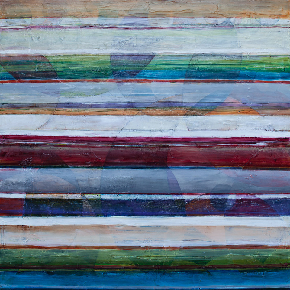 Les, 36 x 36 inches, sold