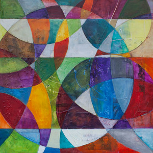 Baciando, 30 x 30 inches, sold