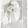 Tribute to Aubrey Beardsley<br /> Pencil Sketch<br /> By Laura D. Hoffman, nee Laura Altman