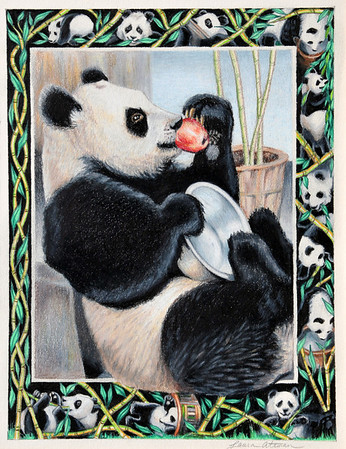 Panda<br /> Pencil Sketch<br /> By Laura D. Hoffman, nee Laura Altman