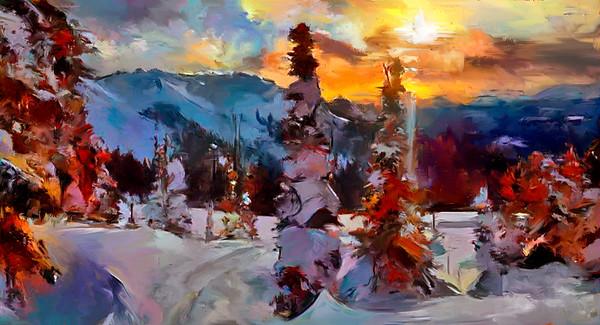 "Winter Scene  26"" x 48"""