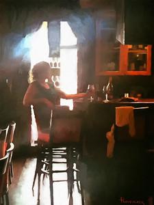 Lady at the bar