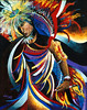 NATIVE DANCER<br /> Acrylic on Masonite<br /> 28 X 34<br /> <br /> Collection of Marion Allman