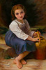 """After Bouguereau's """"Jeune Fille a la Cruche"""" - oil - 30""""X20""""<br /> On Display Montana Museum of Art and Culture March 4, 2011"""