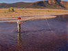 """""""Fishing the Yellowstone"""" - Oil - 9""""x12"""" - Sold"""