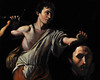 """""""After Caravaggio's David with the Head of Goliath"""" - Oil - 16""""x 20"""" - On Display Missoula Fine Art Studio"""