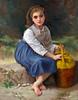 "Master Copy of Bouguereau's ""Jeune Fille a la Cruche"" - Oil - 14""x18"" - On Display Missoula Fine Art Studio"