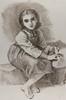 """After Bouguereau's """"Jeune Fille a la Cruche"""" - charcoal - 30""""X20"""""""