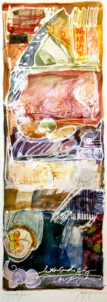 Farfalla Mia, 7 x 20 inches, sold