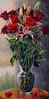 "Valentine Flowers 17 - Oil - 24"" x 12"""