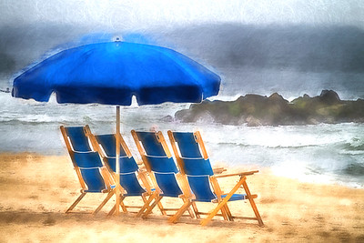 Four Blue Deck Chairs 211
