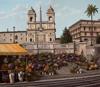 Flowers on the Spanish Steps