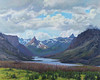 """St Mary Lake in the Distance, Glacier"" - Oil - 24""x 30"" - Sold"