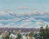 """Missoula Valley, Winter"" - Oil - 8""x10"" - Sold"