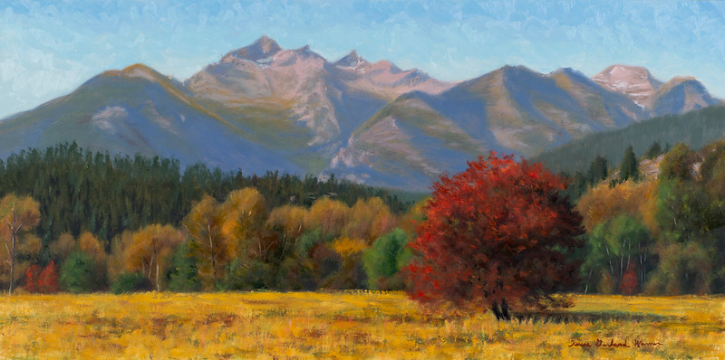 """""""View from Old Darby Road"""" - Oil - 12""""x 24"""""""