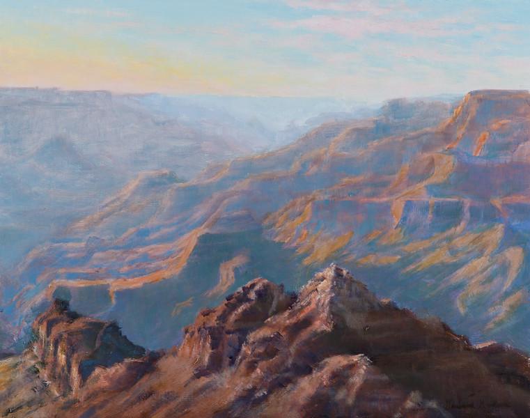 """Grand Canyon"" - Plein Air Oil - 11"" x 14"" - Juried into 2021 Montana Miniatures Show"