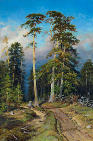 """""""Master Copy after Ivan Shishkin Pine Forest"""" - Oil - 36""""x 24"""""""