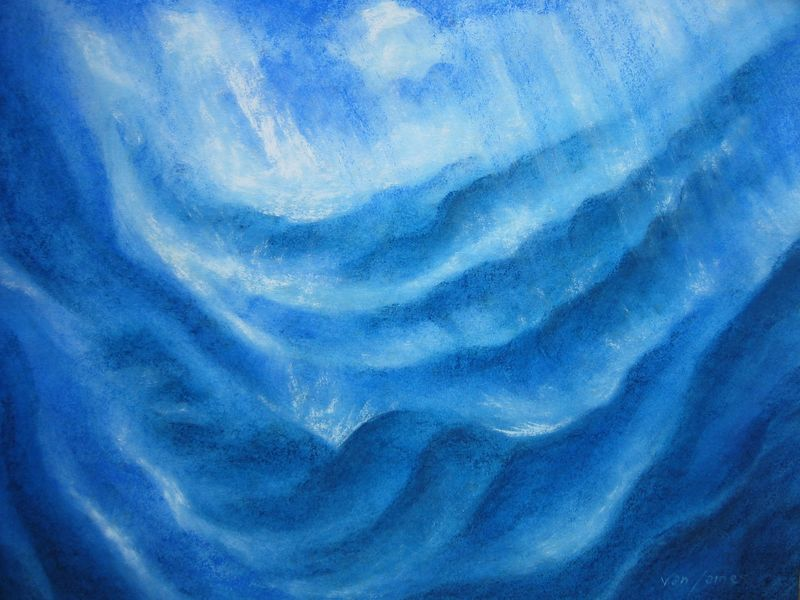 Ocean Storm (watercolor and pastels)