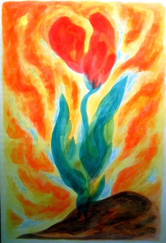 Summer Blossom (watercolor)