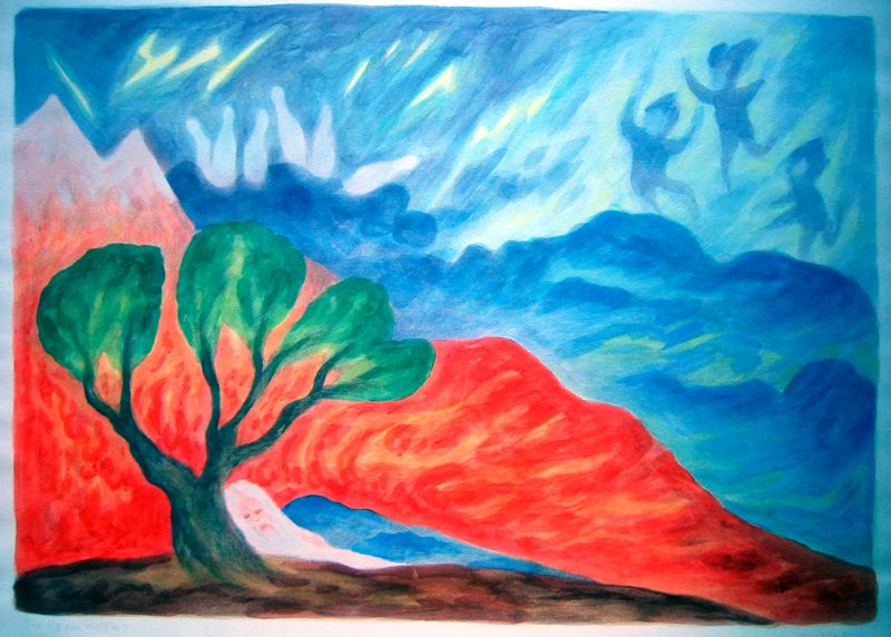 Rip Van Winkle II (watercolor)