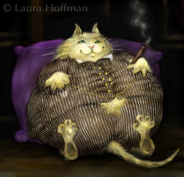 Fat Cat<br /> <br /> Idiom Project<br /> By Laura Hoffman<br /> <br /> Won acceptance into the Society of Illustrators of Los Angeles,<br /> Illustration West 48