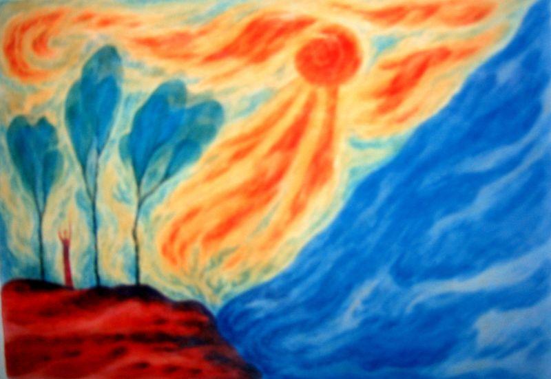 Lakeshore (watercolor)