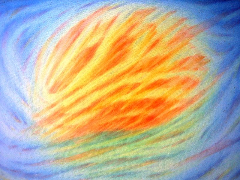 Sunrise VII (watercolor)