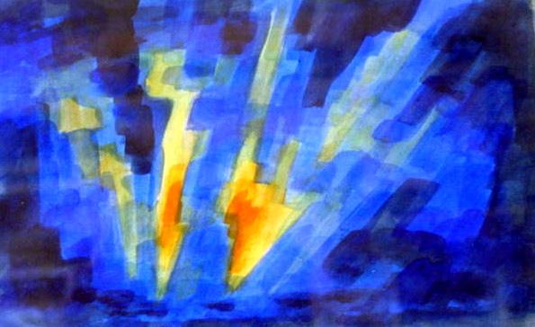 GoldenBlades (watercolor)