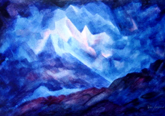 BlueCrystals III (watercolor)