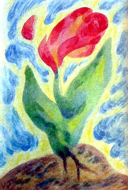 Little Flower (watercolor)
