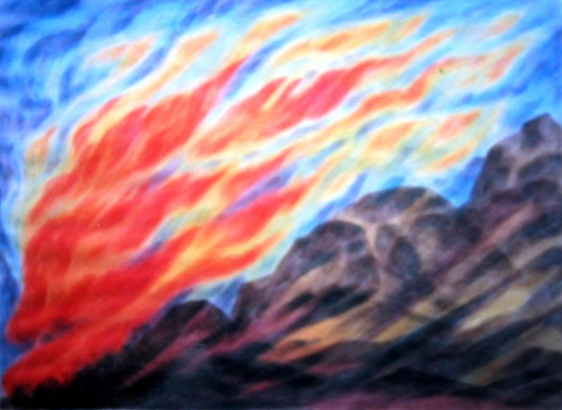 Fire Rock (watercolor)