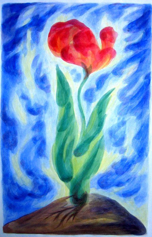 Winter Blossom (watercolor)