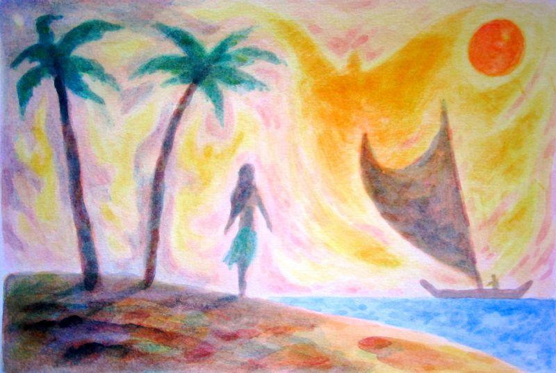 Shoreline (watercolor)