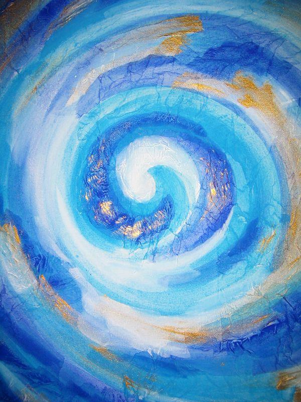 Koru (acrylic on canvas)