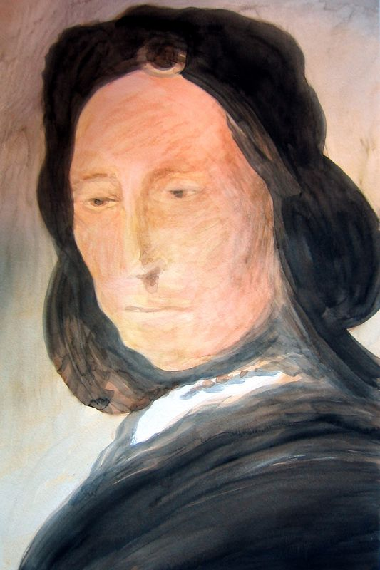 Portrait of a Woman after Rembrandt II (watercolor)