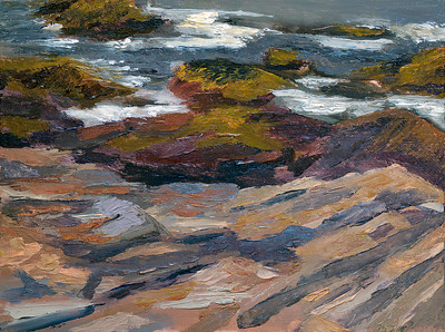 Ocean Rocks in York Maine