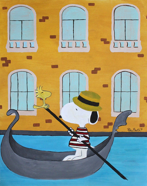 SNOOPY & WOODSTOCK IN VENICE