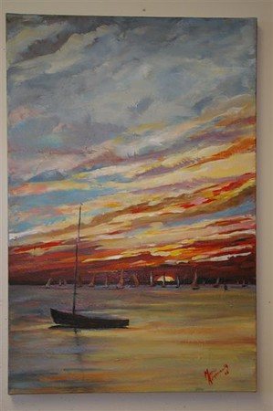Sunset Sail -SOLD!