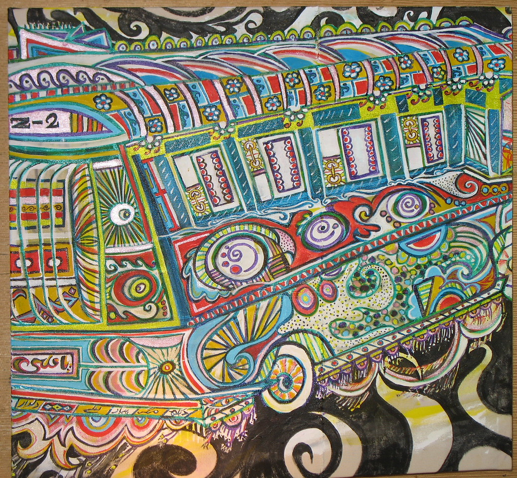 A bus that supports ARTISTS! 2ftX2ft