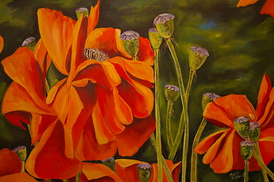 Wind Blown Poppies   SOLD