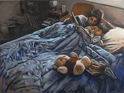 Story, oil on canvas, 54 x 72 in., 1990