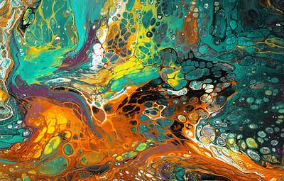 Colorful acrylic art