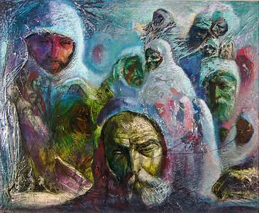 Heritage, men in shawls