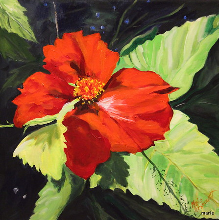 Marie_ Arsenault _Scarlet_acrylic on canvas