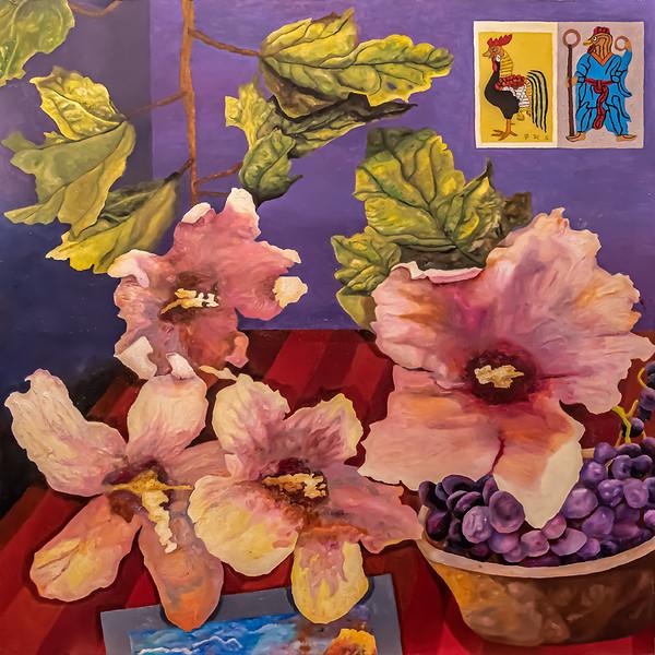 Mugunghwa, Bowl of Grapes, Stamp Roosters